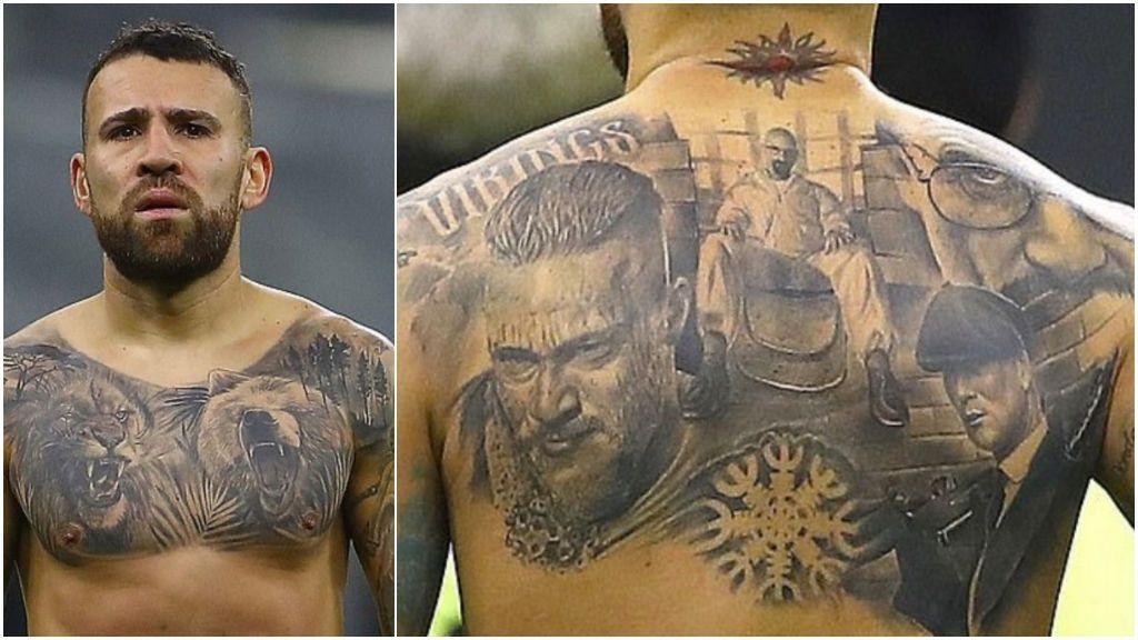 'Peaky Blinders', 'Breaking Bad' y 'Vikingos': Otamendi tiene tatuadas las tres series en su espalda