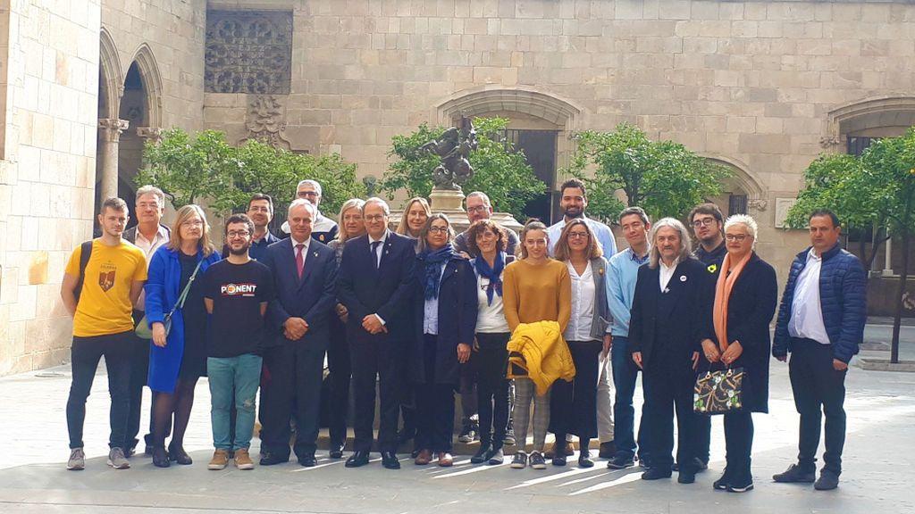Torra ahonda la división en la universidad catalana tras recibir a los trabajadores independentistas