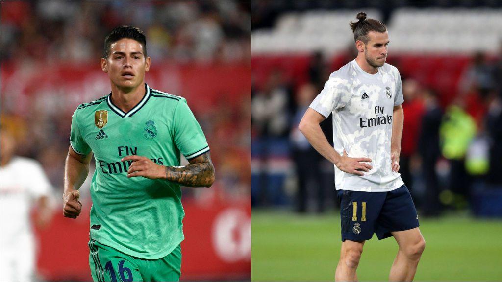 James llega tarde al partido del Real Madrid y Bale vuelve a marcharse antes de que termine