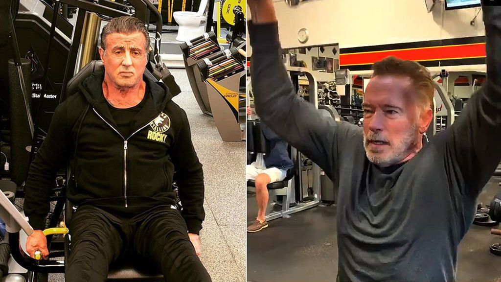 Así entrenan a los setenta y tantos Stallone y Schwarzenegger