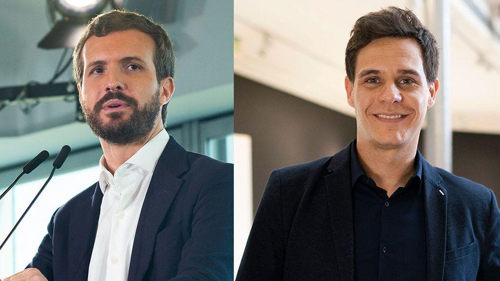 Pablo Casado y Christian Gálvez