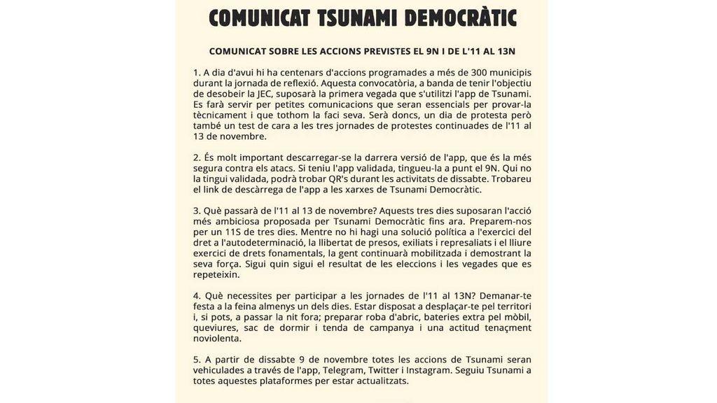 comunicado tdemocratic