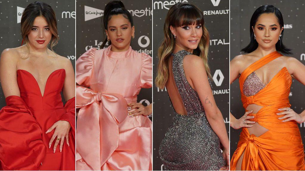 Desde Rosalía y sus maxi lazos hasta Aitana vestida de malla metálica: los looks de Los40 Music Awards