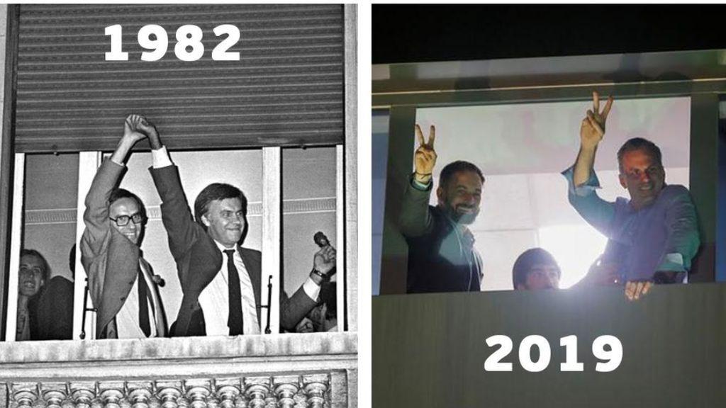 Vox recuerda en su festejo al PSOE del 82: ¿Ironía o casualidad?