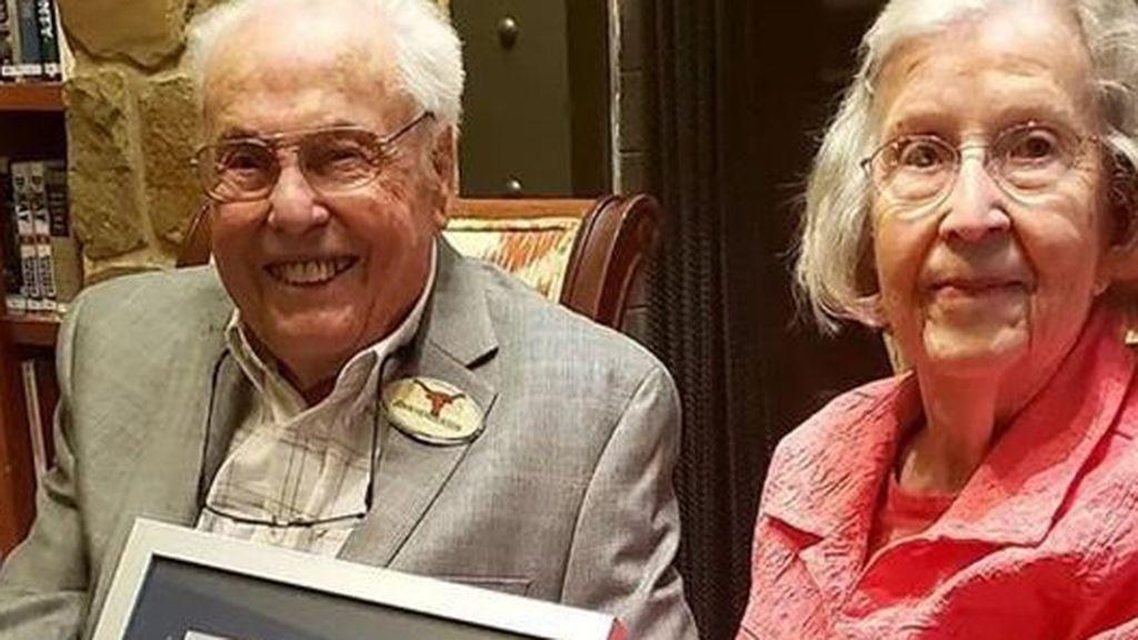 John y Charlotte una pareja de récord: suman 211 años y llevan 80 juntos