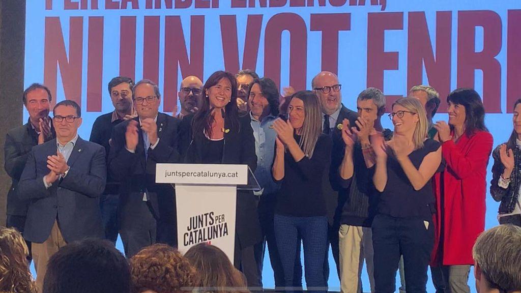 Gran satisfacción en Junts per Catalunya: aumenta un escaño y se mantiene como tercera fuerza
