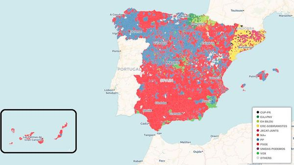 Mapa Region De Murcia Elecciones.Asi Te Hemos Contado El Minuto A Minuto De La Noche