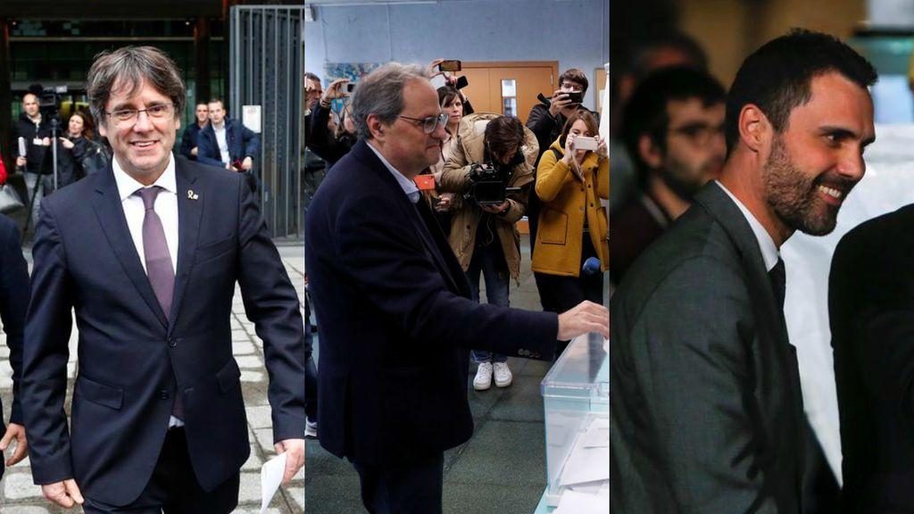 Torra, Torrent o Puigdemont: el bloque independentista llama a la participación electoral
