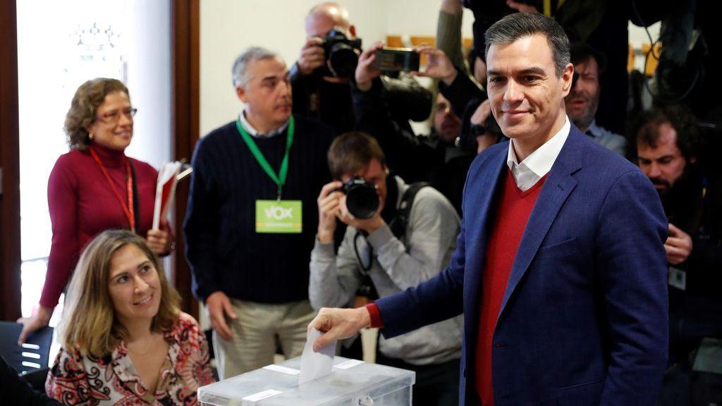 Primer dato oficial de los resultados del 10-N: gana PSOE con 122 escaños, PP logra 80 y Vox 46