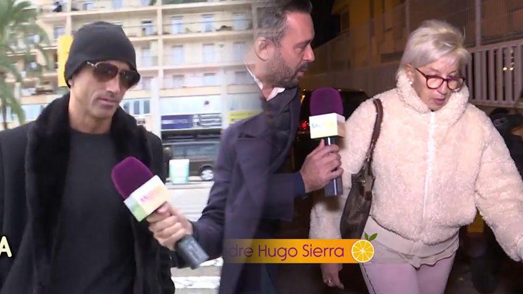 El enfado de la madre de Hugo Sierra y el silencio de él: así lo está pasando la familia