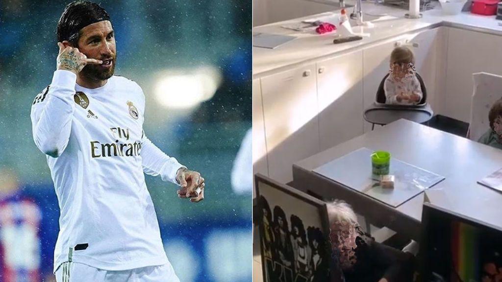 """La despedida de Sergio Ramos con sus hijos al irse a entrenar: """"Bye bye papá"""""""