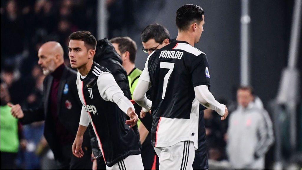 Cristiano Ronaldo pide la sustitución y abandona el estadio de la Juve sin acabar el partido