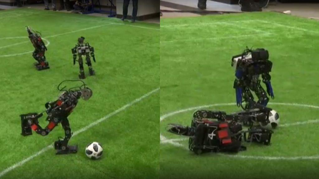 Leo Messi y Cristiano Ronaldo pueden estar tranquilos: estos robots juegan al fútbol, pero de momento no a su nivel