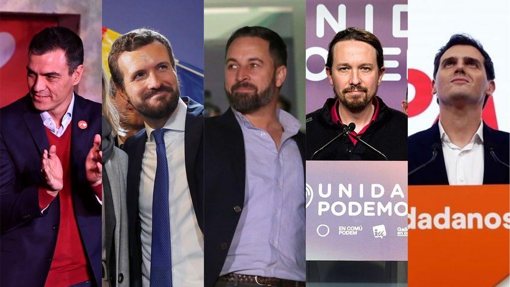 """Elecciones generales 10-N: los líderes agradecen a los españoles de """"corazón"""" confiar en sus propuestas"""