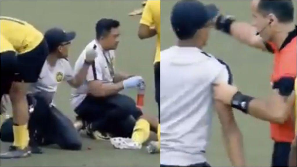 Tarjeta amarilla al médico por perder tiempo al atender a un jugador lesionado