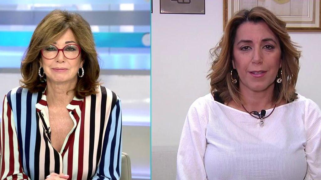 Susana Díaz habla de la victoria del PSOE en las elecciones