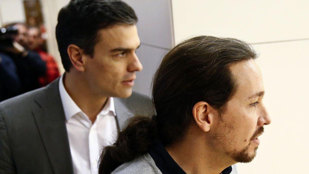 ¿Pacto de Gobierno en tiempo récord?: Pedro Sánchez y Pablo Iglesias se reúnen en el Congreso