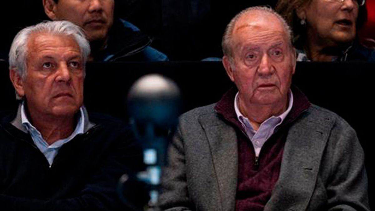 Juan Carlos I, junto al padre de Rafa Nadal
