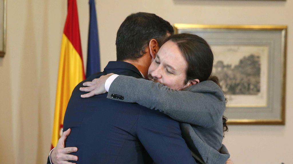 'Peblo': los mejores memes del abrazo entre Pedro Sánchez y Pablo Iglesias