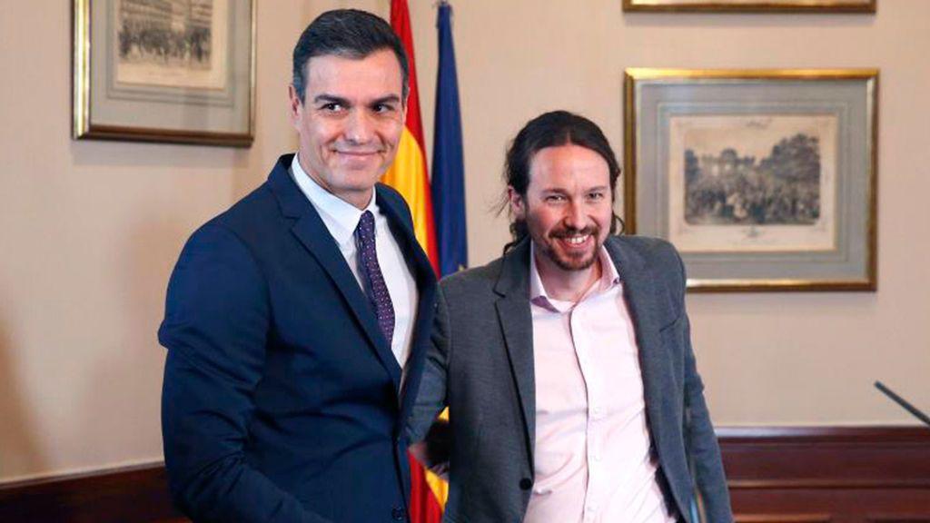 Sánchez confirma a Iglesias de vicepresidente y arma su Gobierno
