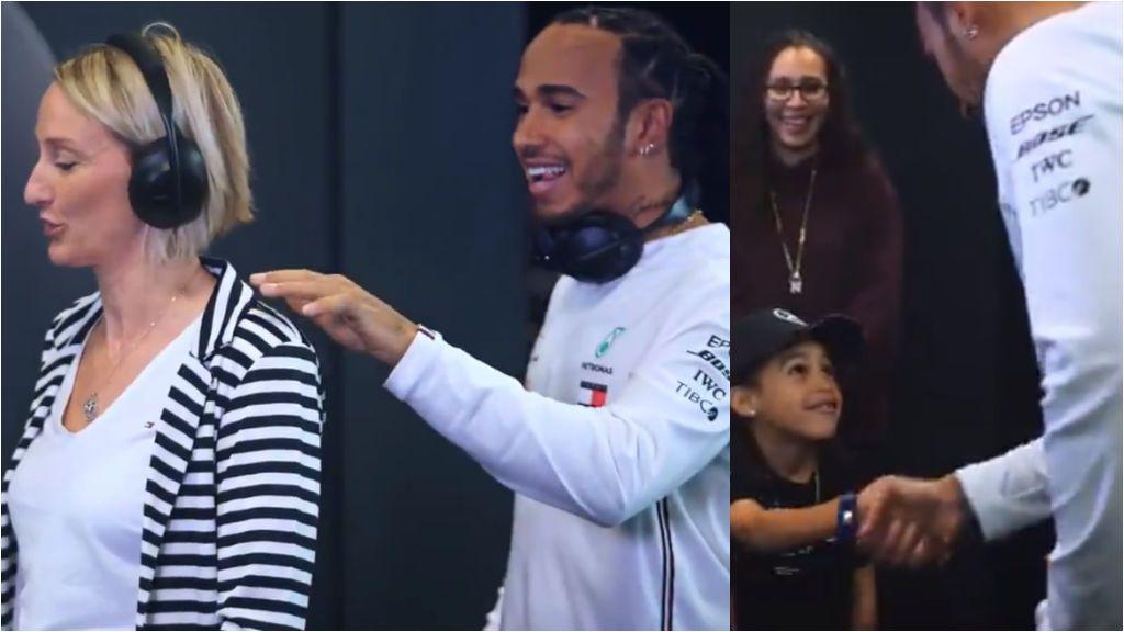 """La sorpresa de Lewis Hamilton a los aficionados: """"¿Puedes ser mi amigo?"""""""