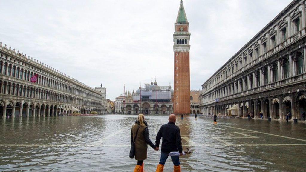 Venecia, dos metros bajo el agua