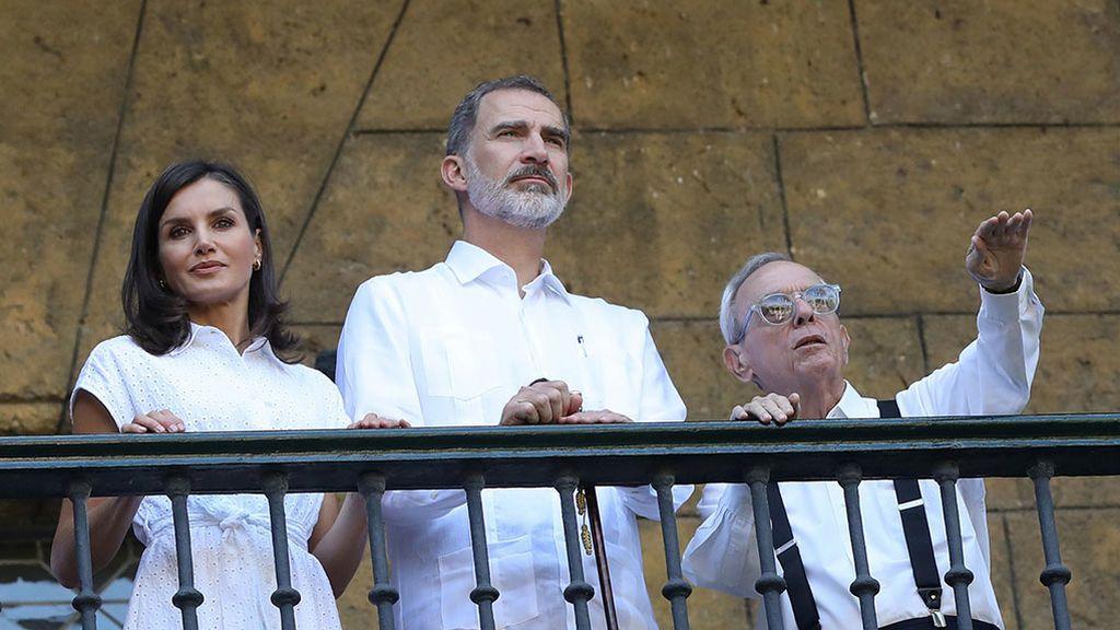 Los Reyes junto a Eusebio Leal