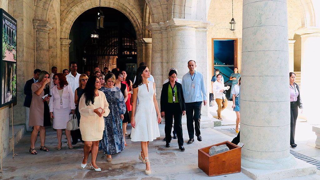 Visita de la Reina al Convento de San Francisco de La Habana