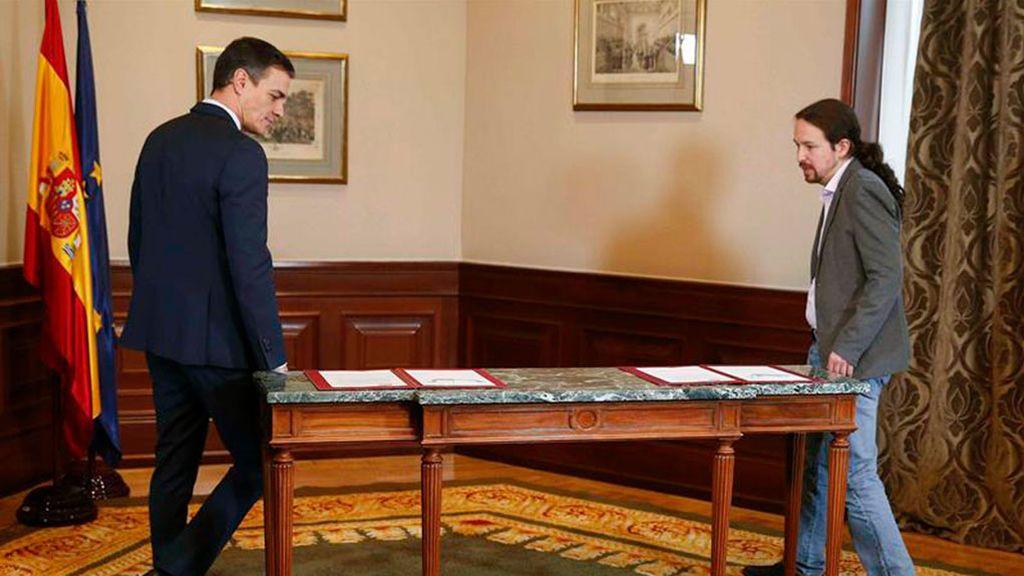 Lo que une y lo que separa a PSOE, UP y ERC