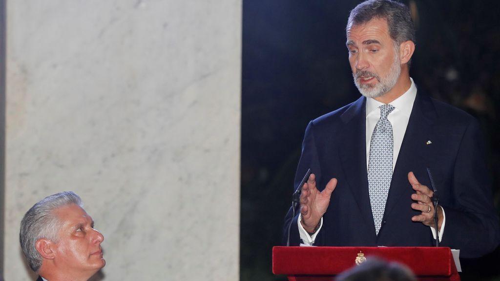 Alegato del Rey a favor de los derechos humanos ante el presidente de Cuba