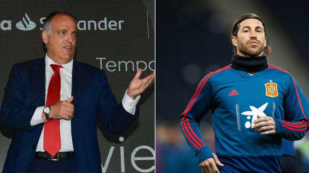 """Javier Tebas responde a Sergio Ramos: """"No vamos a cambiar el horario del Valencia-Real Madrid"""""""