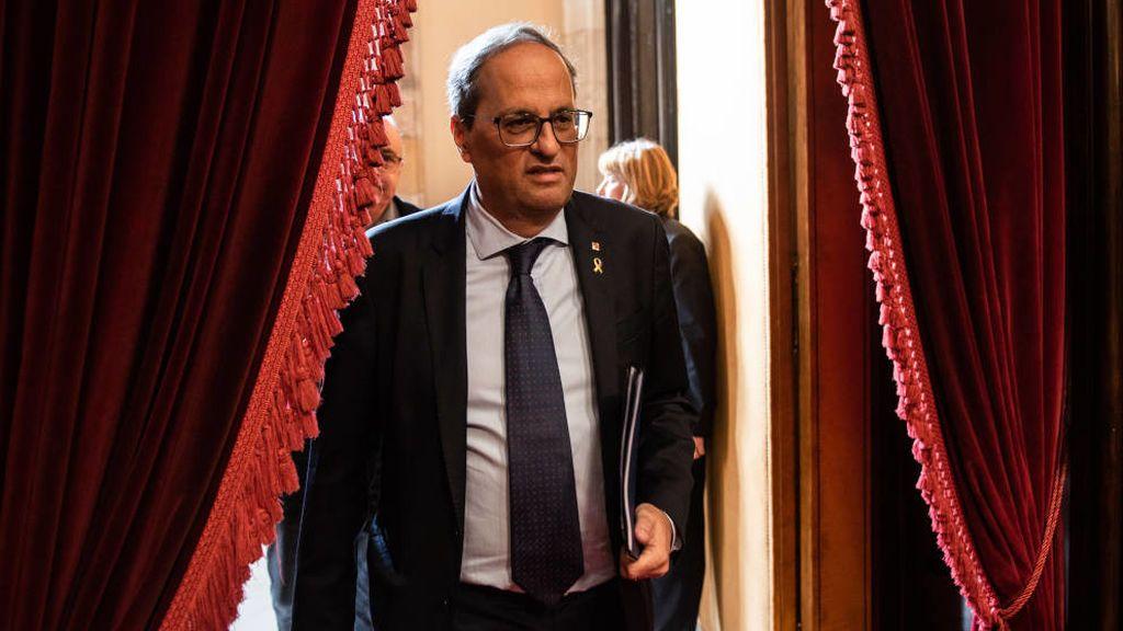 Empieza el juicio a Torra por no retirar  los lazos amarillos de la Generalitat