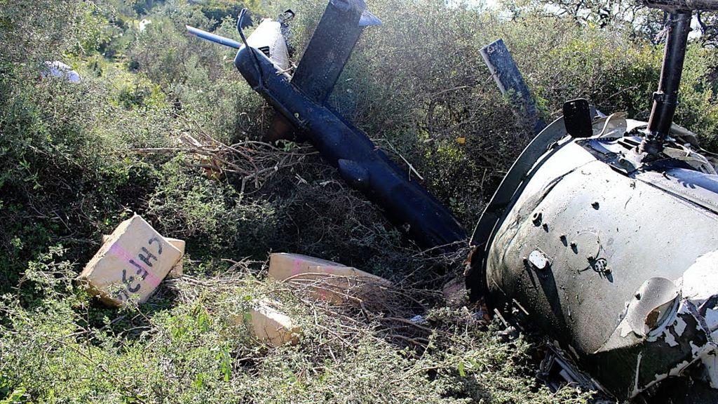 Narcohelicóptero accidentado