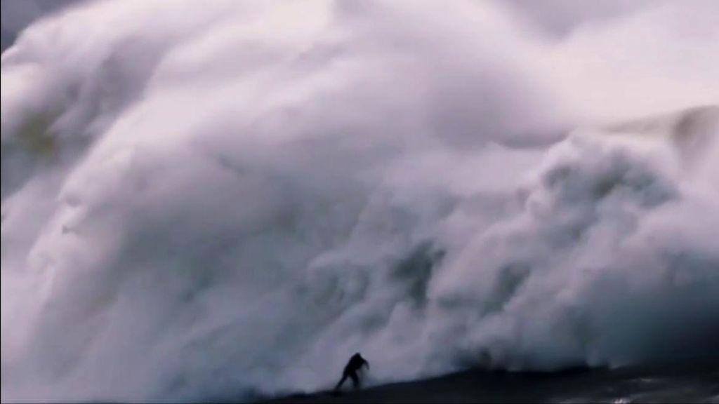 Surfista de Nazaré casi muere ahogado