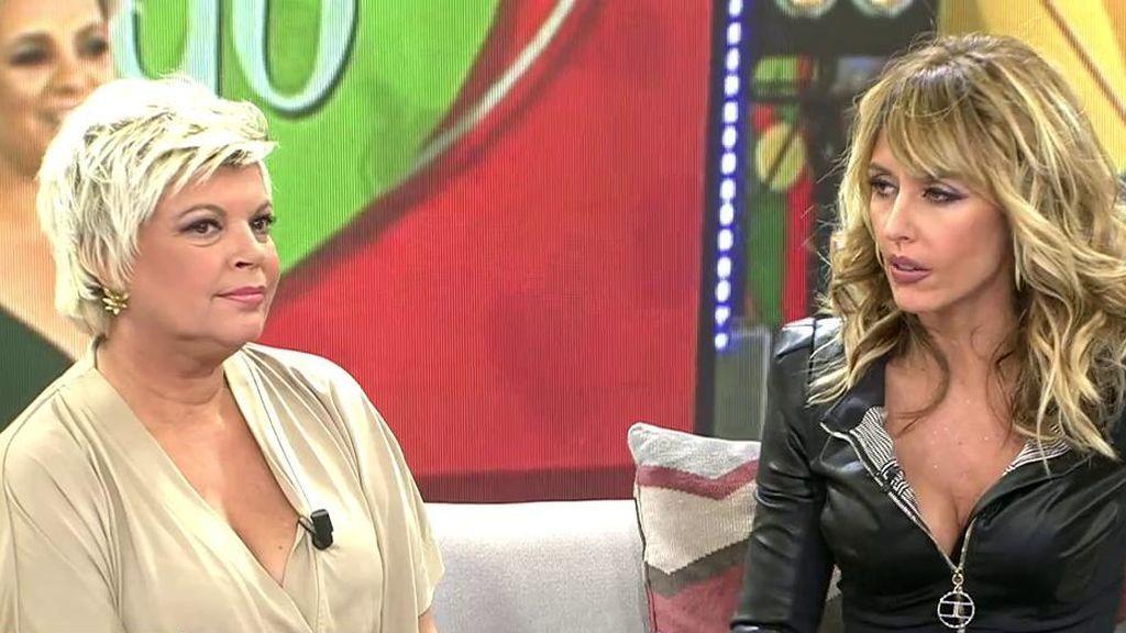 """Terelu defiende a Carmen Borrego de las acusaciones de dos maquilladores: """"Hay gente a la que no le gustas y arremete contra ti"""""""