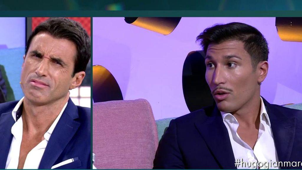 Gianmarco asegura que él no se interpuso en la relación de Adara porque ya estaba rota: la cara de Hugo al oírlo lo dice todo