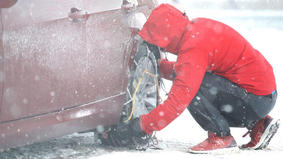 ¿Sabes qué cadenas de nieve tienes que poner a tu coche?: tela, líquida o de red, algunos tipos