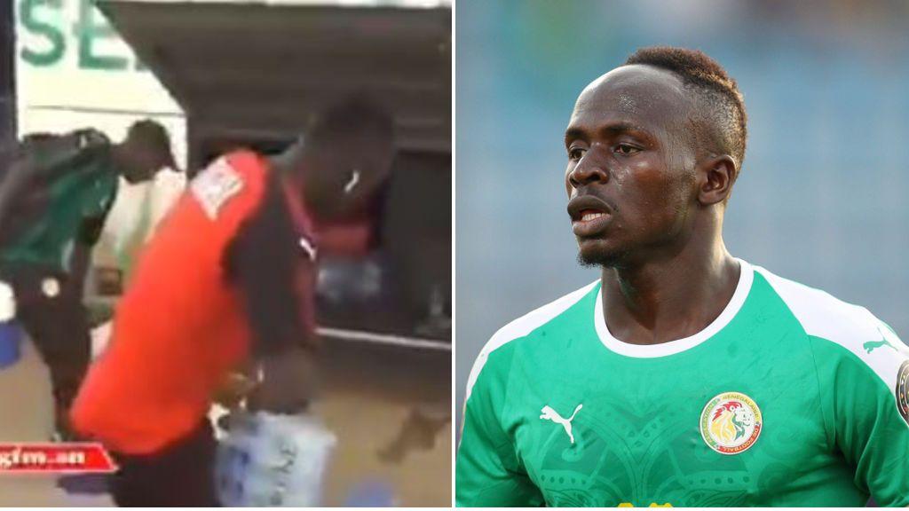 Sadio Mané demuestra su gran humildad ayudando a utillero de Senegal al llevar el agua hasta el estadio