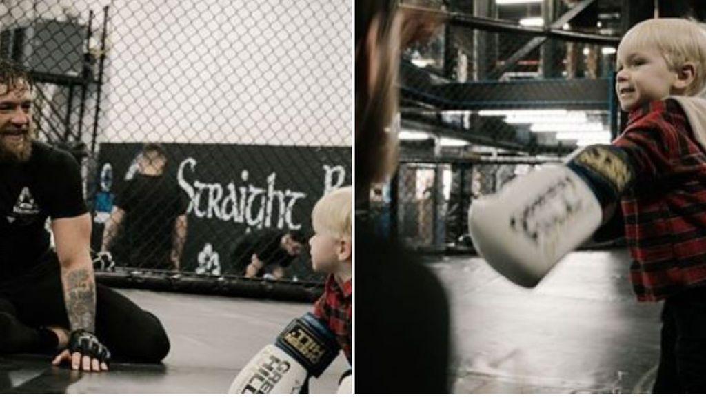 """Conor McGregor entrena con su hijo de dos años: """"Cosechamos lo que sembramos"""""""