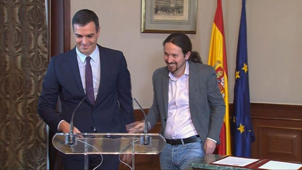 """Sánchez pide a la militancia que apoye el acuerdo con Unidas Podemos que considera """"imprescindible"""""""