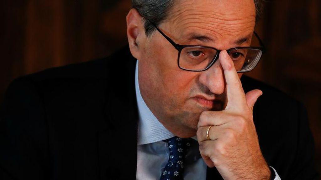 """Torra insiste en la llamada de Sánchez y asegura que """"en breve"""" convocará la mesa de partidos"""