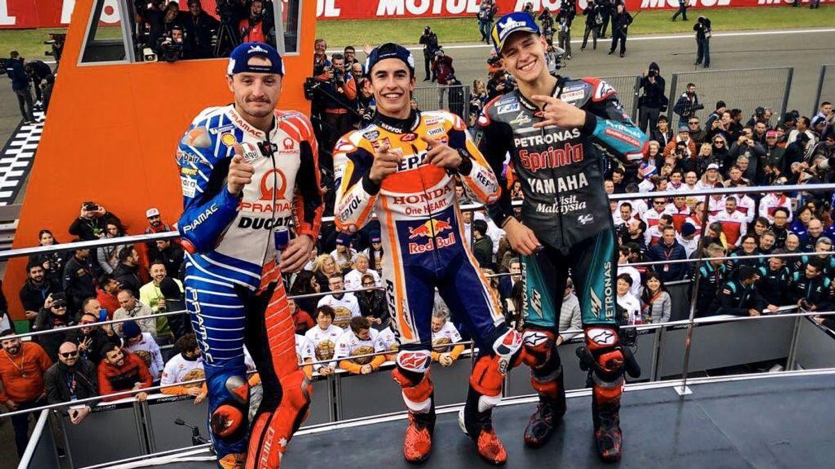 Marc Márquez se da un paseo y gana en Valencia en la despedida de Jorge Lorenzo de MotoGP