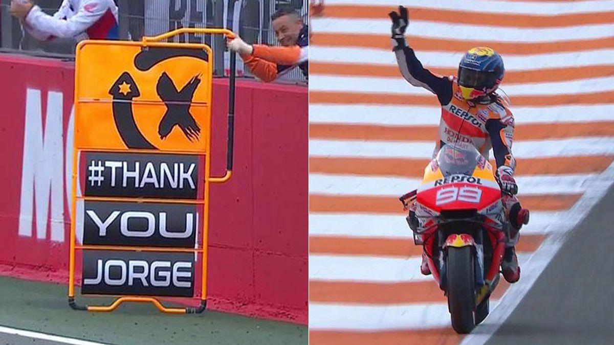 Jorge Lorenzo cruza la línea de meta y se retira de MotoGP