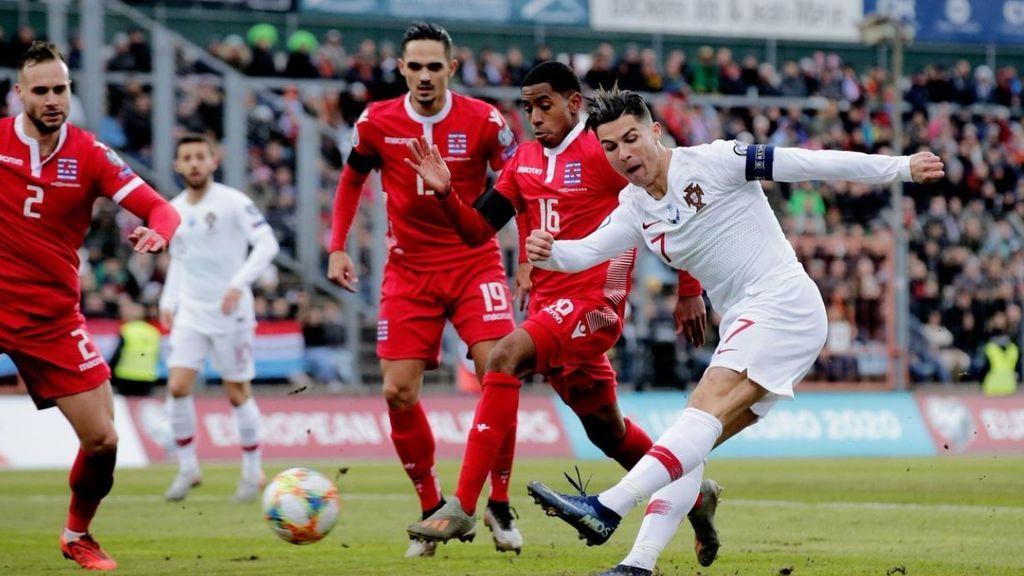 Portugal de clasifica para la Eurocopa tras vencer a Luxemburgo con un solitario gol de Bruno Fernández (0-1)