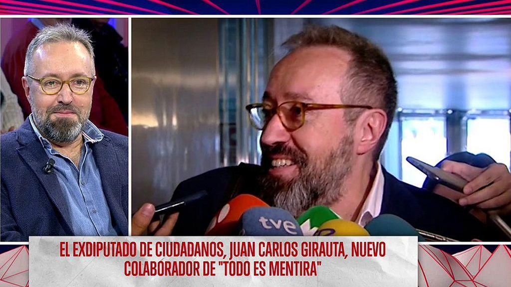 Juan Carlos Girauta comenzó en el PSC, lo intentó con el PP, lo consiguió con Ciudadanos y ahora es nuestro nuevo colaborador