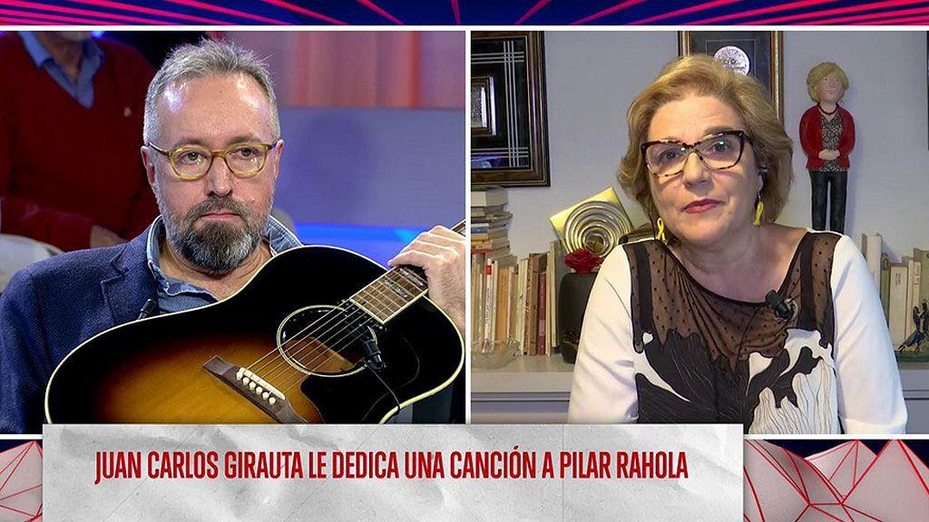 """Girauta canta y toca en directo para Pilar Rahola en 'Todo es mentira': """"Fuera de la política somos amigos"""""""