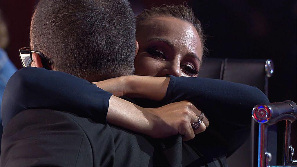 Edurne llora con las amenazas de Risto de dejar para siempre 'Got Talent'