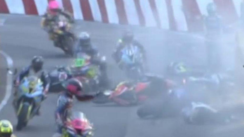 Múltiple accidente Macao motos