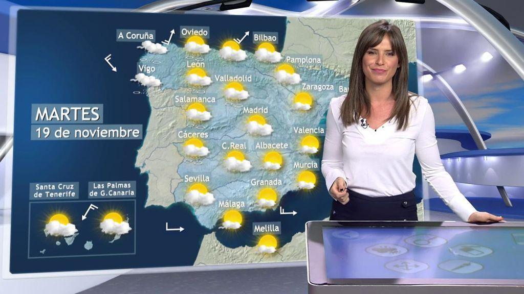 El tiempo se estabiliza al comienzo de la semana en casi toda España