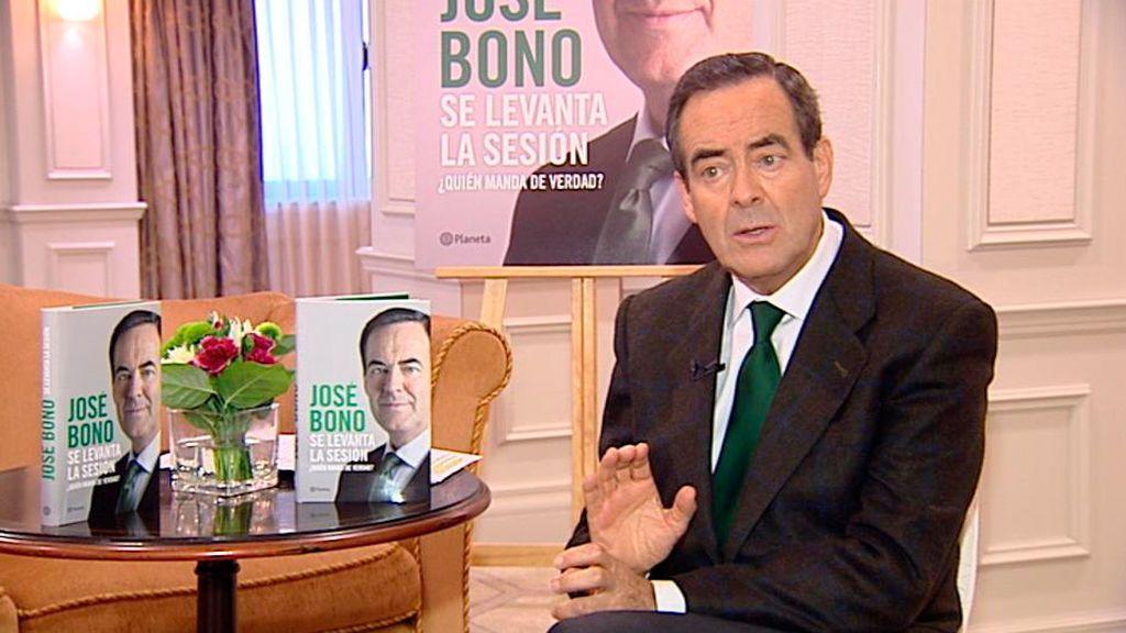 José Bono, presentando su libro